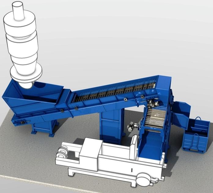 Metal belt conveyor for rolling mill